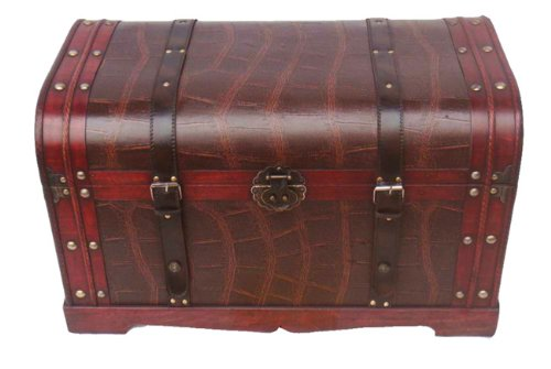 PHAT TOMMY Vintage Style Decorative Steamer Storage Trunk Coffee Table Box