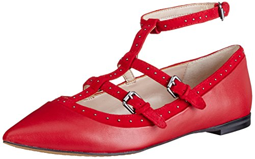 French ConnectionGeklin - Ballerine Donna , Rosso (Rot (Tessi Red 651)), 40 EU