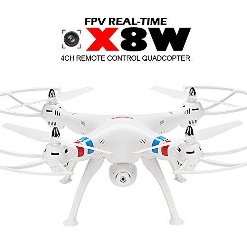 Voomall-Syma-X8W-24G-4CH-6-Axis-Gyro-Drone-Headless-Mode-Real-time-FPV-RC-Quadcopter-With-WiFi-2MP-HD-Camera-White-US-in-Stock