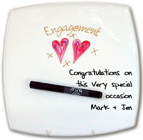 Engagement Signed and Sealed Square Plate