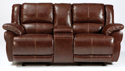 Lenoris Glider Reclining Loveseat With Console Power front-825169