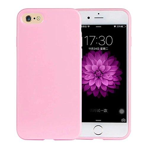 delightable24 Protezione Cover Case in Silicone TPU Jelly per Smartphone APPLE IPHONE 7 - Rosa
