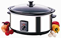 Morphy Richards 48715 Oval Slow Cooker  6.5 Litre, Stainless Steel from Morphy Richards