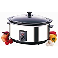 Morphy Richards 48715 Oval Slow Cooker 6.5 Litres - Stainless Steel