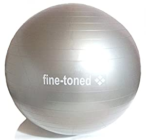 fine-toned® extra strong -EXERCISE ,GYM,YOGA BALL 55cm+PUMP-ANTI-BURST + EXERCISE INSTRUCTIONS - very high grade anti-burst construction / 400kg load tested / eco friendly -no phthalates / anti slip -NEW!!!