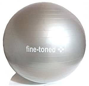 fine-toned® extra strong -EXERCISE ,GYM,YOGA BALL 55cm+PUMP-ANTI-BURST + EXERCISE INSTRUCTIONS + MATERNITY EXERCISE INSTRUCTIONS - very high grade anti-burst construction / 400kg load tested / eco friendly -no phthalates / anti slip -NEW!!!