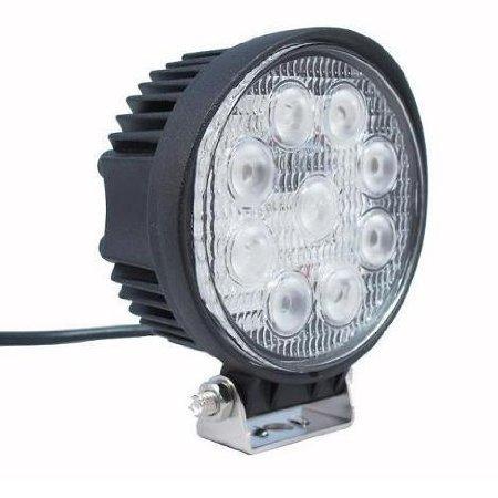 Ipuled Led Work Light Lamp Off Road High Power Atv Jeep 4X4 Tractor 27W Round 30 Degree Round Spot Light