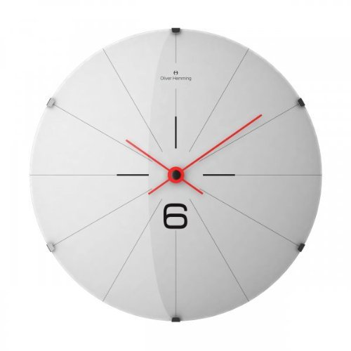 Oliver Hemming Six Domed Glass Contemporary 50cm Wall Clock