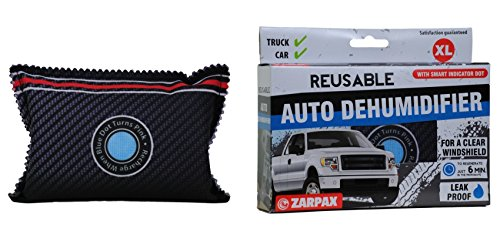Zarpax LV-A300-US Dark Grey Reusable Car Auto Truck Van SUV and RV Dehumidifier with Smart Indicator (2 pack) (Dehumidifier For Car compare prices)
