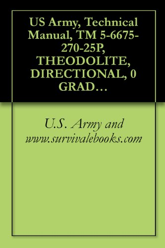 Us Army, Technical Manual, Tm 5-6675-270-25P, Theodolite, Directional, 0 Graduation, 5.9 Inch Long Telescope W/Accessories, (Wild Heerbru Model T16-Mil66