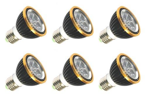 Illumi Projections Warm White Par20 ** 6 Pack ** 120V 130V 5 Watt Led Par20 Halogen Spot Flood Light Bulb Replacement =30 Watts E26 30000H Lifetime