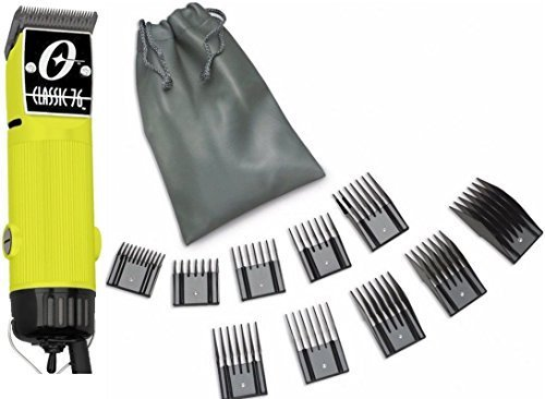 New Oster Classic 76 Yellow Color Limited Edition Hair Clipper+10 PC Comb Set (Black Oster Detachable Blades compare prices)