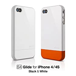 elago S4 Glide Case for iPhone 4 - Snow White + Extra Bottom Clip + Front Protection Film + Back Protection Film included