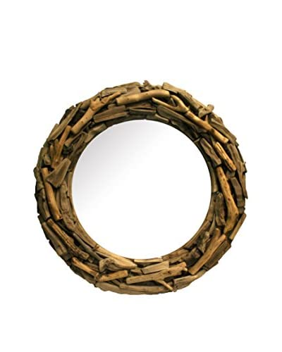 Contrast, Inc. Round Driftwood Mirror