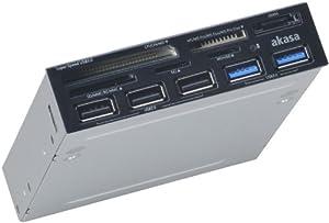 "Akasa 3.5"" USB 3.0 SuperSpeed Memory Card Reader w/ eSATA and USB (AK-ICR-17)"