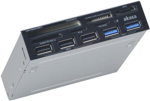 Akasa AK-ICR-17 USB 3.0 Card Reader with eSATA and USB panel