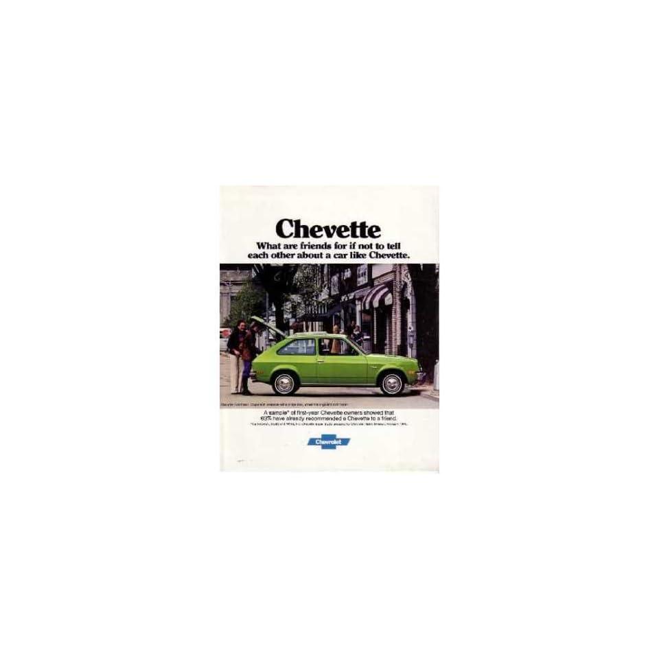 1977 CHEVROLET CHEVETTE Sales Brochure Literature Book