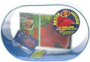 Zoo Med Betta House 2 Gallon Oval Racetrack Blue