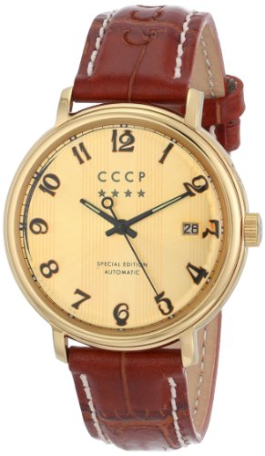 Cccp Men'S Cp-7021-03 Heritage Analog Display Automatic Self Wind Brown Watch