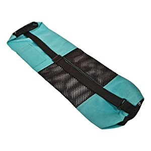 "27"" x 5.5"" x 1/16"" Turquoise Nylon Bag with Mesh Center"