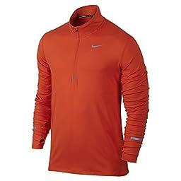 Nike Men\'s Dri-Fit Element Half Zip - X-Large - Team Orange