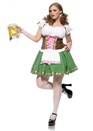 Women's Bavarian Maiden Beer Girl Plus Costume