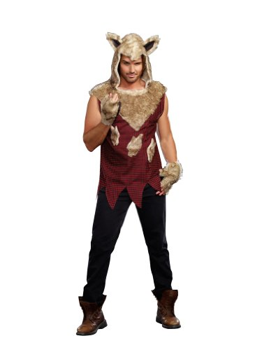 Dreamguy by DG Brands Men's Fairytale Costume, Big Bad Wolf