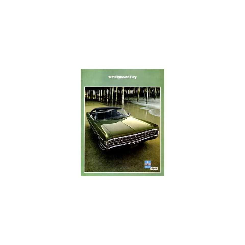 1971 Plymouth Fury Sales Brochure Literature Book Options Features Colors Specs