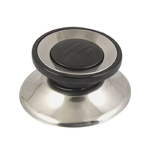 Cookware Parts Black Silver Tone Tempered Glass Pot Pan Lid Knob