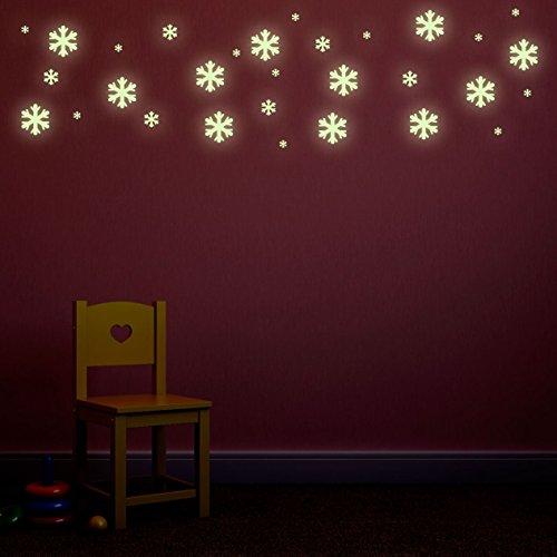 glow-in-the-dark-snow-flakes-repositionierbarer-kids-schlafzimmer-wand-aufkleber-set-von-30