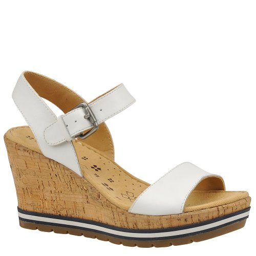 Naturalizer Women's Norton Wedge Sandal, White, Size 11.0
