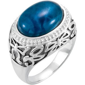 Genuine IceCarats Designer Jewelry Gift Sterling Silver Genuine Opaque Apatite Ring. Genuine Opaque Apatite Ring In Sterling Silver Size 9