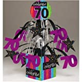 Milestone Celebrations 70th Birthday Mini Cascade Centerpiece
