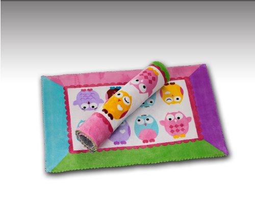 Sofantex Cute Baby Play Rug / Mat (Bottom: Pink - Top: Green) front-3210