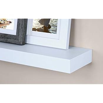 "Ballucci Block Floating Wall Ledge, 12"", 16"", 24"", Set of 3, White"