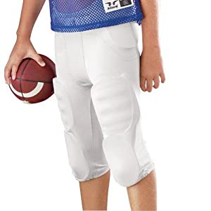 Youth Solo Polyester Football Pants Black L by Alleson Athletic