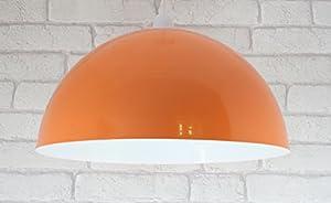 "14"" Orange Metal Cylinder Dome Light Shade Lamp shade ceiling light Pendant"