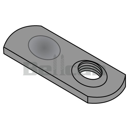 Bellcan BC-08NWS1T Weld Nut Thin Target Area Plain Steel #8-32 (Box of 1000)