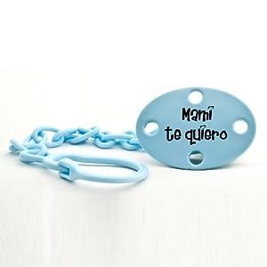 """Mi Pipo - Broche-pinza """"mami te quiero"""" celeste de mi pipo en BebeHogar.com"""