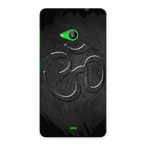 Impressive Om Grey Back Case Cover for Lumia 535