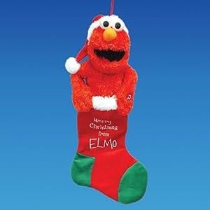"20"" Sesame Street Animated and Musical Plush Elmo Christmas Stocking"