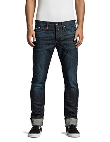 Replay Herren Regular Slim Jeans Waitom, Gr. W33/L34 (Herstellergrosse: 33), Blau (Blue Denim 7) thumbnail