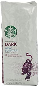 Starbucks Whole Bean Coffee, Decaf Sumatra, 16-Ounce Bags (Pack of 2) from Starbucks