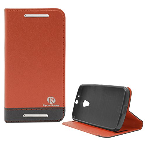 Popular Raiders Magnetic Wallet Flip Folio Stand Book Cover Case For Motorola Moto G 2nd Gen (Orange)