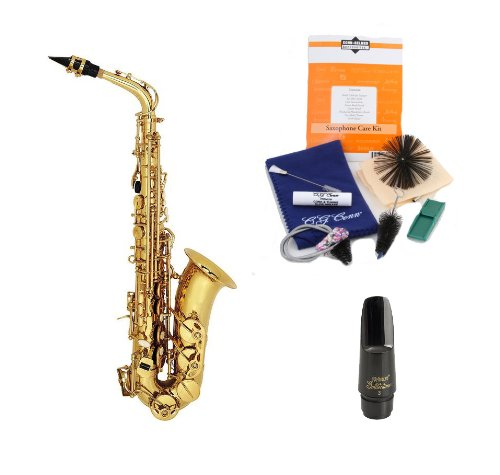 Legacy AS2000 Professional Fully Engraved Alto Saxophone with Case, Accessories and Selmer USA Mouthpiece