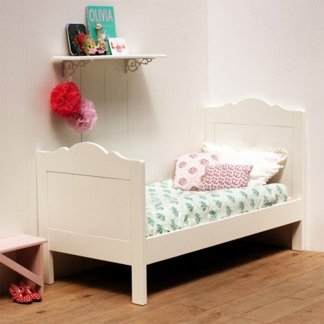 Alfred & Compagnie - Lit pin massif avec sommier 70x150 blanc Alice