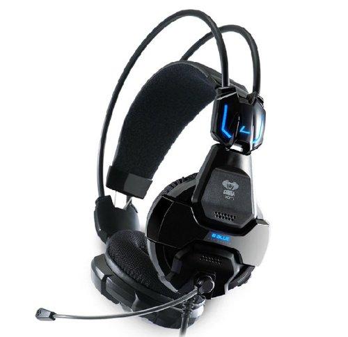 Amtonseeshop Black E-3Lue Cobra Hs707 Blue Light Gaming Headsets & Microphone Gamer Msn Skype