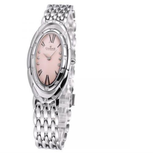 Charmex L's Bracelet Watch Femme Argent Acier Bracelet & Boitier Montre 5904