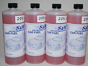 Pack of 4 S & W 20% Nitro Fuel for R/c Car Truck Buggy 4x4 4wd Rc