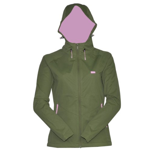 2117 OF SWEDEN KALL HOOD Softshell Jacket Damen Kapuzen- Outdoorjacke Funktionsjacke 7613903 (Oliv-Grün (army-green), 36)